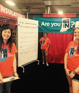 The ALL IN for Health team at the Indiana State Fair