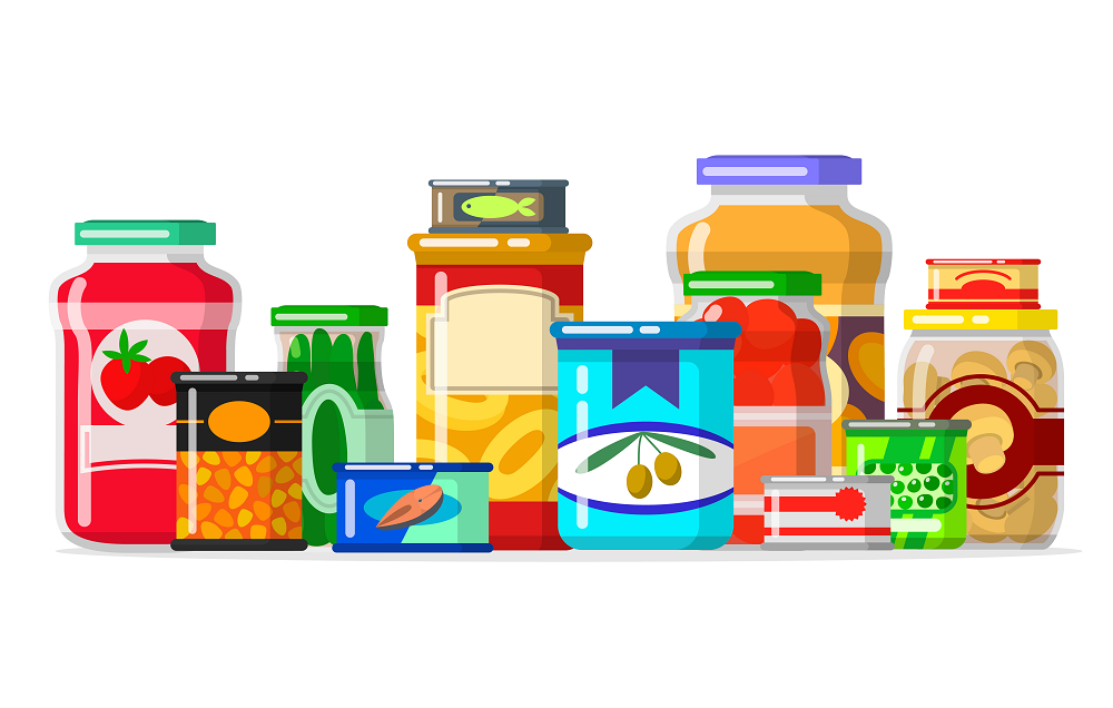 Illustration of pantry food