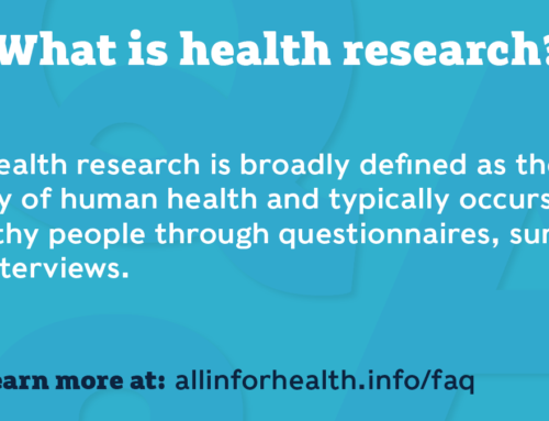 All IN for Health launches health research FAQ campaign